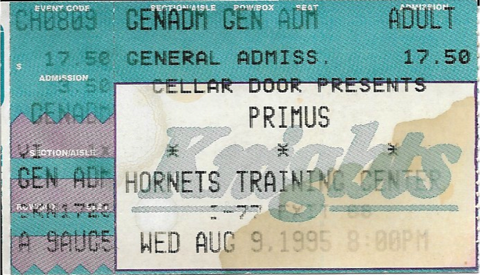 Primus @ Hornets Practice Facility, Ft. Mill, SC 8-Aug-95