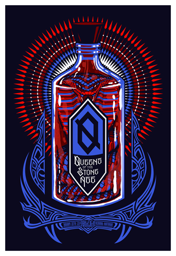 Queens of the Stone Age, Raleigh Show Poster, Jan 2014