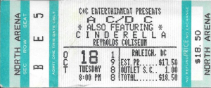 AC/DC, Reynolds Coliseum, NC State Campus, Oct 18, 1988