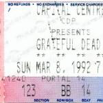 Grateful Dead, Winter Tour 92, Capital Centre Landover MD