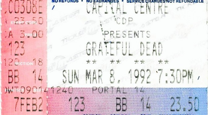 Grateful Dead | Landover, MD | 8-Mar-92