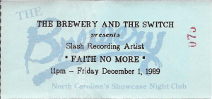 Faith No More at The Switch in Raleigh, NC 1989