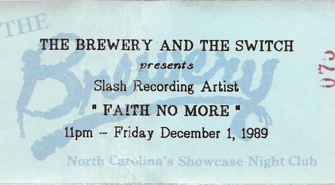 Faith No More | Raleigh NC | 1-Dec-89