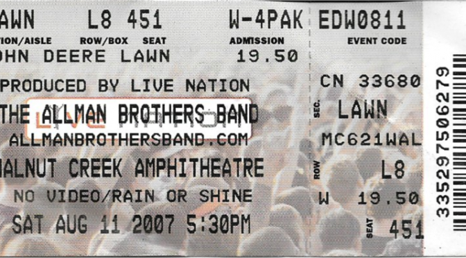 Allman Brothers Band, Raleigh, NC Aug 11, 2007