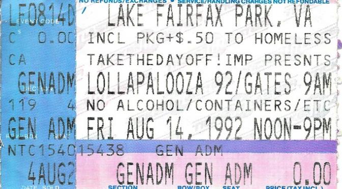 Lollapalooza | Reston, Va | 14-Aug-92