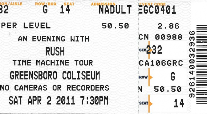 Rush | Time Machine Tour |Greensboro, NC | Apr 2, 20111