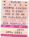 R.E.M. Radford Va, Dec 1985