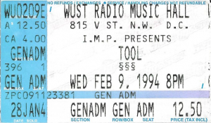 Tool @ WUST Radio Music Hall, Washington DC, Feb 9, 1994