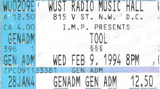 Tool | Washington, DC | 9-Feb-1994