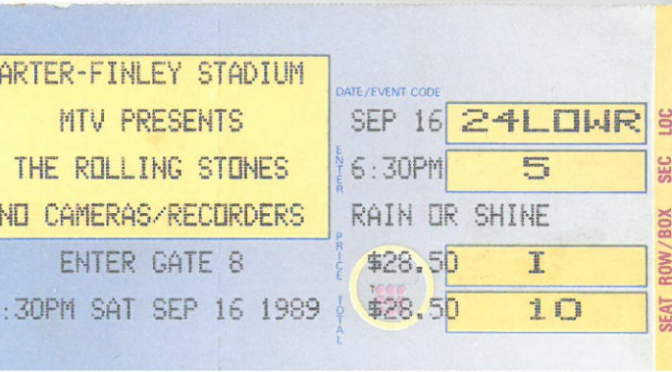 The Rolling Stones @ Carter-Finely Stadium, Raleigh, NC Sept 16 1989